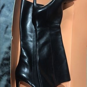 Black Leather Boots Size 10~ Christy LE